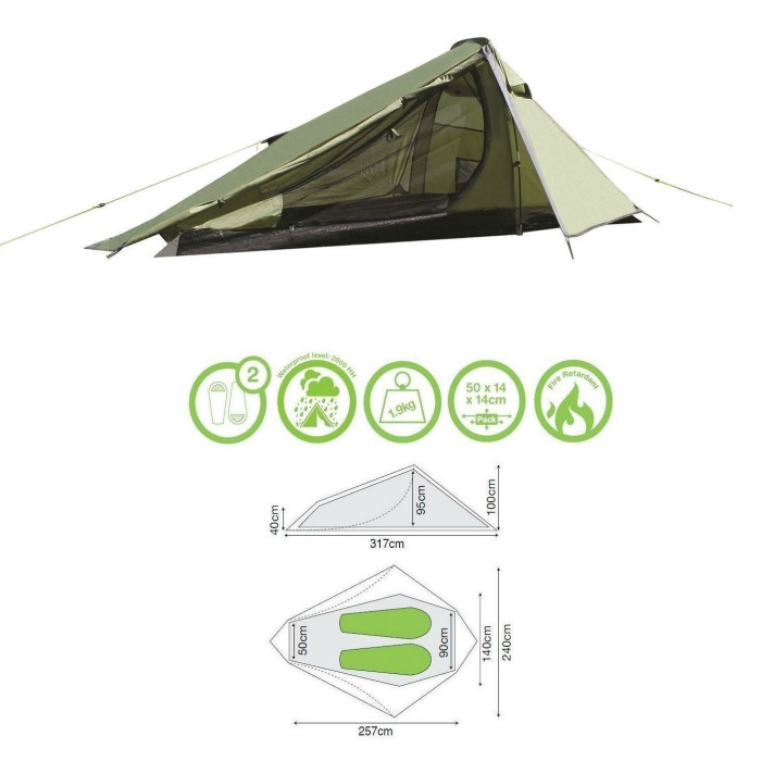 Yellowstone Alpine 2 man Waterproof Tentcompact u0026 lightweight ideal for fishing trips  sc 1 st  Bevan Caravan and C&ing Supplies & Yellowstone Alpine 2 man Waterproof Tentcompact u0026 lightweight ...