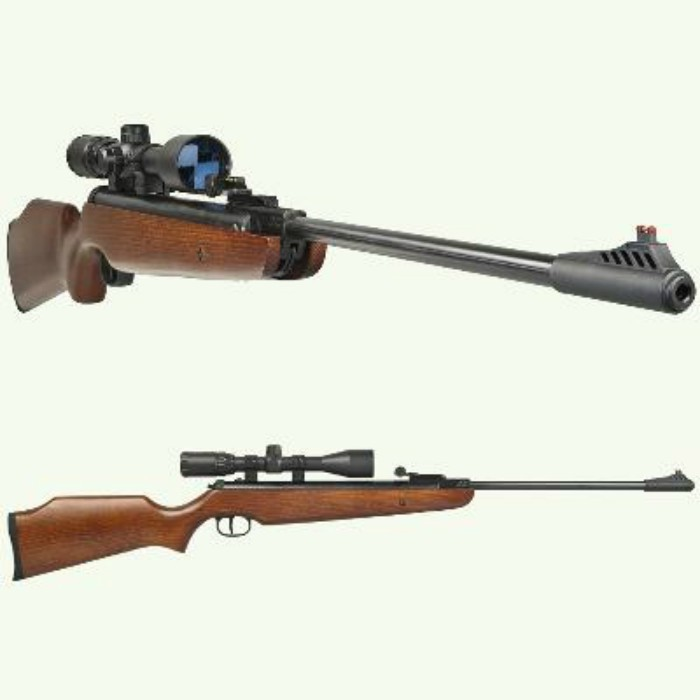 SMK XS208  177 WOOD STOCK COMPLETE WITH 3-9X40 SCOPE AND MOUNTS
